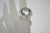14K White Gold Fancy Cut White Topaz Ring