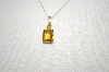 Small 14K Citrine Pendant With