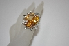 **MBA #19-463  Huge Champagne Oval Cut CZ Ring
