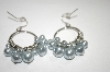 **MBA #19-304  Majestic Blue Simulated Pearl Earrings