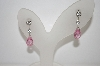 Charles Winston Pink Briolette & Clear CZ Earrings