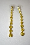 **MBA #20-648  Nolan Miller Gold Plated Yellow CZ Earrings