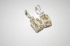 "**MBA #20-356  ""HVE"" Yellow & Clear Crystal CZ Earrings"