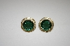 14K Over Silver Green Quartz Earrings & Pendant Set