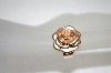 14K Rose Gold Satin & Polished Rose Ring