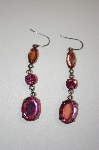 **MBA #20-212  Buck Hill Pink Acrylic Dangle Earrings