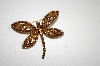 "**MBA #20-101  ""Imagine Designs Brown Crystal Dragon Fly Pin"