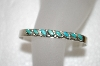 **MBA #20-289  Sterling Small Blue Turquoise Cuff Bracelet