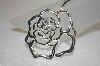 **MBA #20-271  Large Sterling Rose Pendant