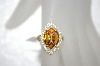 14K Citrine & Diamond Ring