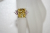 Charles Winston Canary Yellow & Pink Trillion Cut CZ Ring
