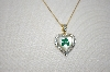 Technibond  Real Four Leaf Clover & Diamond Accent Pendant