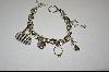 "Charles Winston 7.5""  Rhodium Charm Bracelet With 5 Charms"