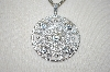 "Charles Winston Round Cut CZ Pendant With 18"" Triple Chain"