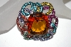 **MBA #21-535  Joan Rivers Large Glass & Crystal Brooch