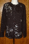 "MBA #24-363  ""Stitches In Time Hand Embelished Black Sweater"