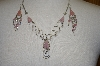 Peruvian Pink Opal & Rose Quartz Necklace & Matching Earrings