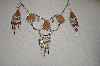Peruvian Hand Made Jasper Necklace & Earrings