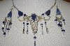 Peruvian Blue Sodalite Stone Necklace & Matching Earrings
