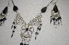 Peruvian Black Onyx Necklace & Earrings
