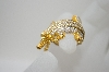 18K Vermeil White Zircon Crocodile Ring