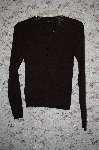 "MBA #5-1957   ""Moda Black V-Neck Button Front Sweater"
