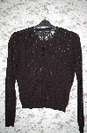 Moda Black Button Front Pullover Knit Sweater