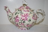 +MBA #5-1642D  Porcelain Scalloped Butterfly Teapot