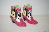 2000 Pink Cowboy Boots & Guitars Salt & Pepper Shakers
