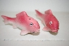 Pair Of Vintage Pink Fish Salt & Pepper Shakers