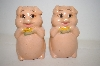 Pair Of Vintage Cute Pig Salt & Pepper Shakers