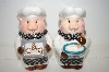 "Pair Of ""Pig"" Chef Salt & Papper Shakers"