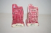 Vintage Pair Of Pink Reno Nevada Salt & Pepper Shakers