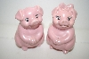 1994 Pink Pig Salt & Pepper Shakers