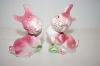 Vintage Pink Bunny Salt & Pepper Shakers