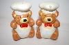 Vintage Chef Brown Bear Salt & Pepper Shakers