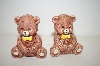 Vintage Baby Bears With Bowties Salt & Pepper Shakers