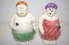 Bathing Man & Woman Salt & Pepper Shakers
