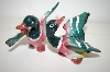 Vintage Green Ducks Salt & Pepper Shakers