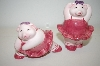Pink Pig Balarina Salt & Pepper Shakers