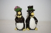 Vintage Black Penguins Salt & Pepper Shakers