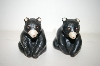 Vintage Black Bear Salt & Pepper Shakers