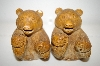 "Vintage ""Carved Look"" Brown Bear Salt & Pepper Shakers"