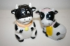 Black & White Cow Salt & Pepper Shakers