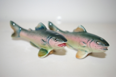 Vintage Trout Salt & Pepper Shakers