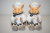 1999 Ceramic Pig Chefs Salt & Pepper Shakers