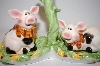 "** 2002 ""Pigs On A Stand"" Salt & Pepper Shakers"