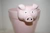 "Large Pink Ceramic ""Pig"" Flower Pot"