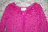 Dark Pink Louis Dell'Olio Simulated Pink Pearl Sweater