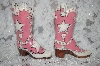 "2002  Pink Large ""Super Star"" Cowboy Boot Salt & Pepper Shakers"